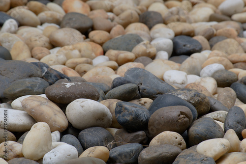 Gravel background with many colors, shapes and sizes