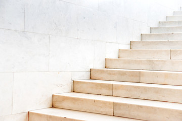 Stores à enrouleur Escalier Marble staircase with stone stairs in building