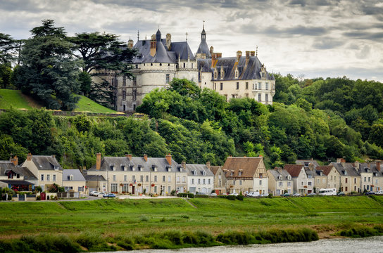 Chateau de Chaumont-sur-Loire, France. This castle is located in the Loire Valley, was founded in the 10th century and was rebuilt in the 15th century. France
