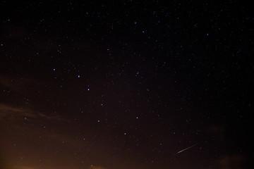 étoile filante et constelation