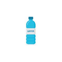 Mineral water bottle. Bottle Of Water in Flat Style