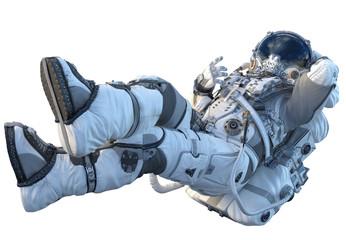 Astronaut on white. Mixed media Fototapete