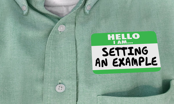 Setting an Example Good Practice Name Tag 3d Illustration