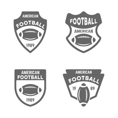 American football vector black badges or emblems