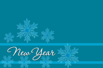 Blue background. New Year