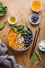 Buddha bowl salad with fresh vegetables