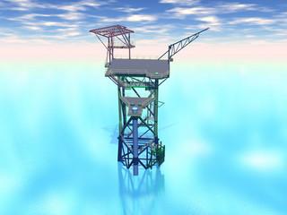 Ölbohrplattform im Meer