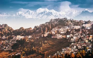 Kangchenjunga and Darjeeling