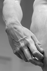 Hand of Michelangelo David in Florence