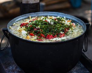 Fish soup Danube Delta