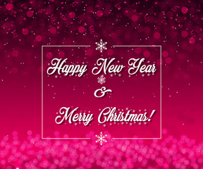 Happy New Year 2019 Elegant Red & Pink Background