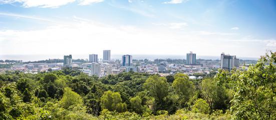 Panorama view of Miri city, Sarawak, Borneo, Malaysia