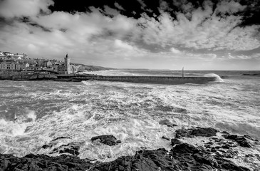Harbour defence, Porthleven, Cornwall