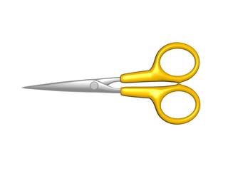 Haushaltsschere mit gelbem Griff