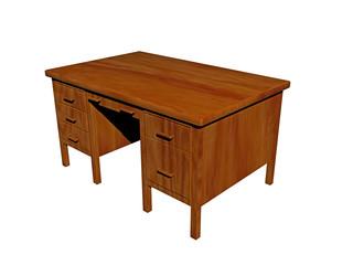 Alter hölzerner Schreibtisch