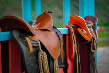 Mongolian horse saddle