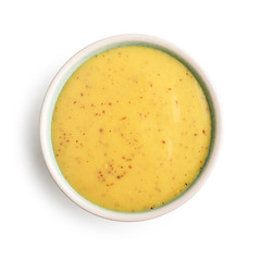 Bowl of mustard and honey sauce