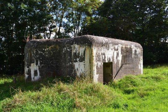 Pillbox-type world War 2 bunker in a field near Leuven, Belgium.