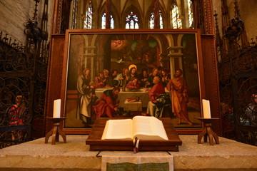 Hochaltar von Martin Schaffner im Ulmer Münster