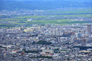 山形県 西蔵王公園より山形市を望む