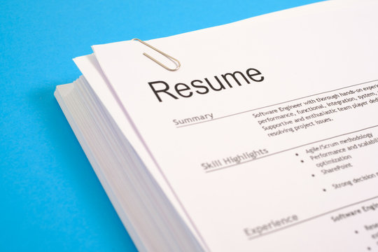 Job search and interview resume recruitment application concept