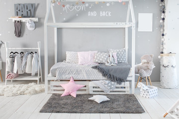 Interior of baby room