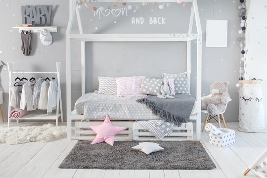 Interior of baby room