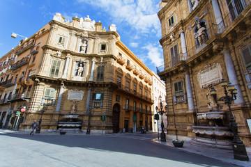 Fond de hotte en verre imprimé Vienne The famous Quattro Canti of Palermo