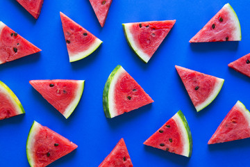Top of view fresh watermelon