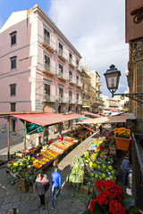 Aerial view of the Capo market in Palermo