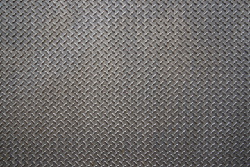 Aluminium, steel or metal plate panel. Old rough aluminium panel with zigzag pattern.