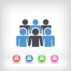 Illustration depicting a social community icon