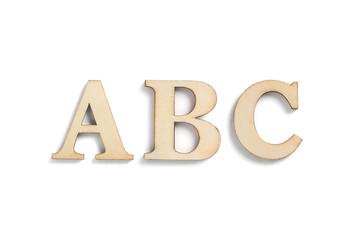 Buchstaben Set ABC auf weißem Hintergrund