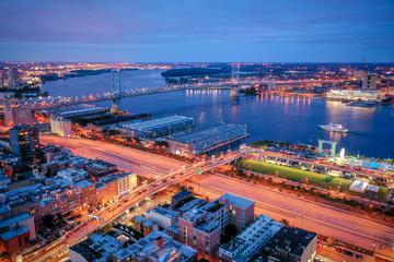 Fototapeta Aerial of Philadelphia