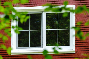 New pvc windows in classical german village house
