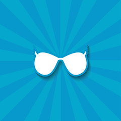 Sunglasses vector icon with shadow