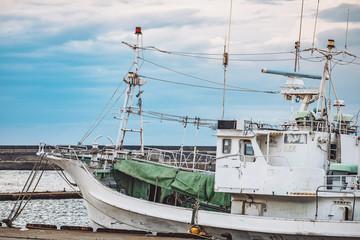 漁港の漁船