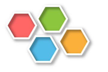 hexagonal design background for presentation in free space