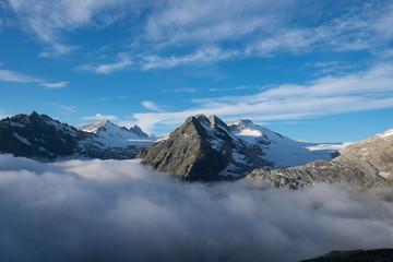 Panorama in alta montagna