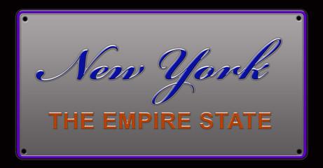 New York License Plate illustration