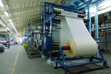 Industrial textile factory. Fabric production .