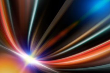 Fotobehang - Abstract line and light multi color background