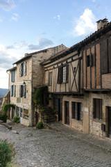 Old medieval buildings in Cordes Sur Ciel village