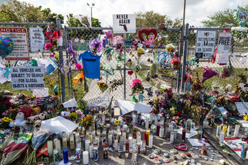 Memorial of Marjory Stoneman Douglas High School shooting.