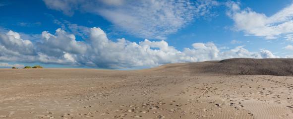 Rabjerg Mile is a migrating coastal dune, Denmark.