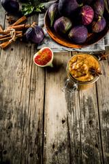 Homemade figs jam