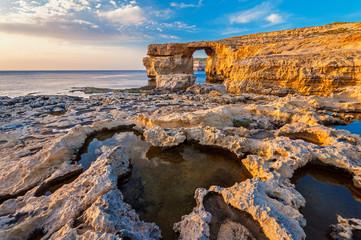 Azure Window in Gozo Malta at Sunset