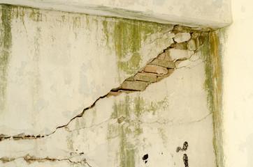 Water damage plaster peeling sub basement