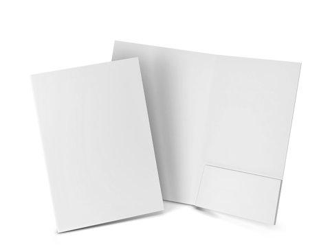 Blank paper folder mockup