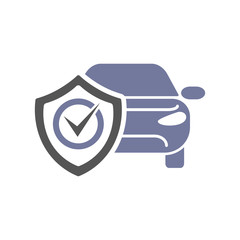 Safety, insurance car, isolated icon on white background, auto service, car repair